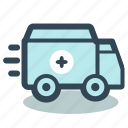 ambulance, car, emergency, medical, transport icon
