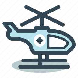 ambulance, emergency, helicopter, medical, transport icon