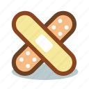 aid, medical, patch, plaster icon
