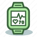 fitness, pulse, pulsometer, smartwatch, tracker, watch icon
