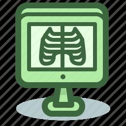 medicine, ribs, roentgen icon