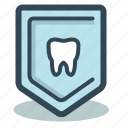 dental, dentist, pin, shield, teeth, сaries icon