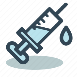 drugs, injection, medical, syringe, treatment, vaccination icon