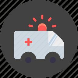ambulance, emergency, healthcare, medical, transportation, treatment, van icon