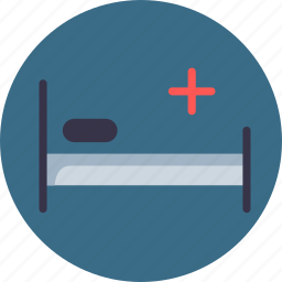 bed, hospital, patient, pillow, rest, treatment icon