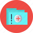 document, file, folder, hospital, priscription, report, treatment icon