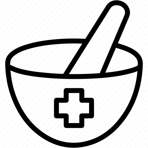mortar, pestle icon
