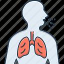 asthma, breathe, breathe need, inhaler, respiration, respiration trouble, wheezing icon