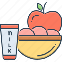 food, fruits, healthy, patient, patient food icon