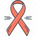 awareness, awareness ribbon, badge, cancer, ribbon, treatment icon