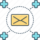 communication, email, envelope, mail, medical, medical mail, message icon