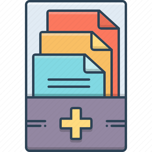 document, folder, information, management, medical, medical records, records icon