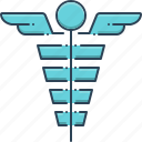 caduceus, healthcare, hospital, medical, medical symbol, treatment icon