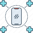 doctor, medical, services, service, phone, call, on call medical services icon