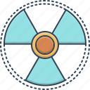 eradiation, radiation, radiation sign, sign, therapy icon