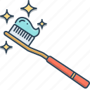 brush, hygiene, protection, tooth, tooth brush icon