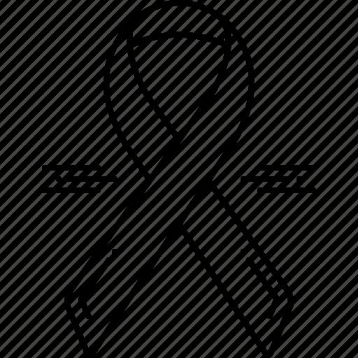 awareness ribbon, cancer, ribbon, treatment icon