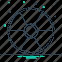 eradiation, radiation, radiation sign, sign, therapy icon