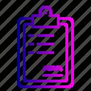 board, description, graph, healthcare, medical, policy, report icon