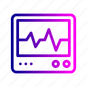 cardiogram, health, medical, medicine, pulse, treatment icon