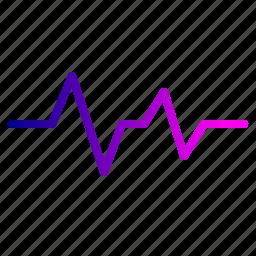 beat, cardio, heart, lifeline, medical, pulse, wave icon