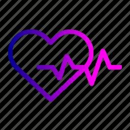 care, heart, heartbeat, life, love, save, treatment icon