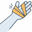 bandaged, damage, hand, hand injury, injury icon