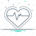 cardiac, heart, heart rate, pulse, rate icon