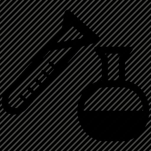 beaker, chemical, lab test, laboratory equipment icon