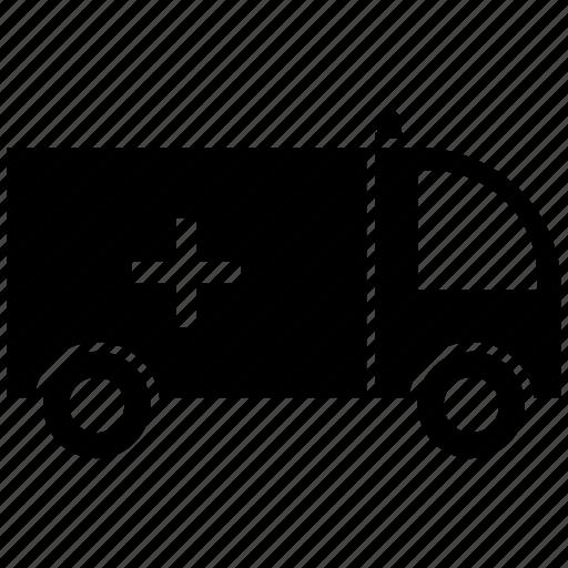 ambulance, cross, medical, transport icon
