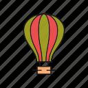 air, balloon, parachute