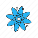 atom, nucleus, science icon