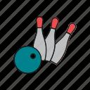 ball, bowling, pin icon