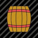 barrel, pirates, wooden