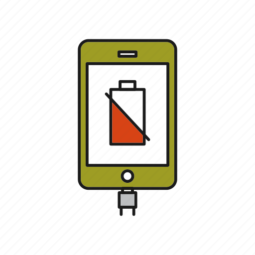 battery, low, smartphone icon