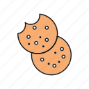 biscuit, cookie, food, knackebrot icon