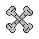 bones, cross, skeleton icon