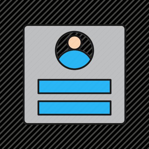 Curriculum, cv, job, resume icon - Download on Iconfinder