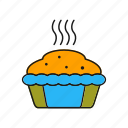 cake, chocolate, cup, hot, sweet icon