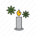 candle, candles, decoration, fire, light icon