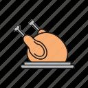 chicken, food, turkey