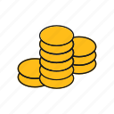 coin, dollar, money, tails
