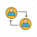 connected, profiles, server, profile, connection icon