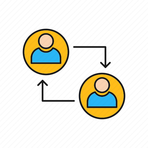 Connected, connection, profile, profiles, server icon - Download on Iconfinder