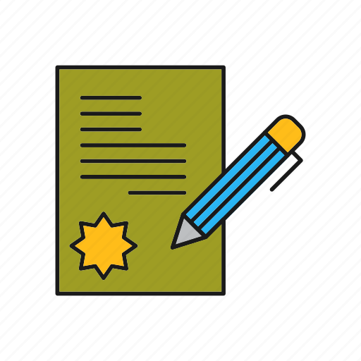 Business, contract, document, paper, sign icon - Download on Iconfinder