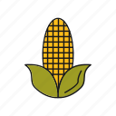 corn, food, pop, vegetable icon