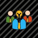 brainstorming, creative, team, teamwork icon
