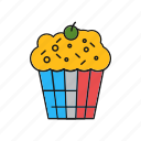 brownie, cake, cupcake, dessert, sweets icon