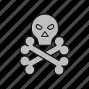 bones, danger, skull