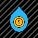 dollar, drop, finance, money, oil, petroleum
